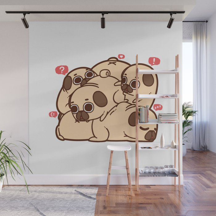 Puglie Grumblie Wall Mural