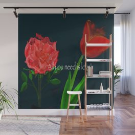 Light Up The Darkness with Love Wall Mural