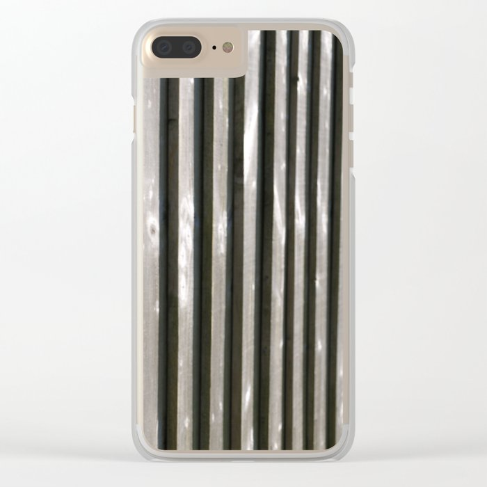 PARALLEL LINES SHADES OF GREY Clear iPhone Case