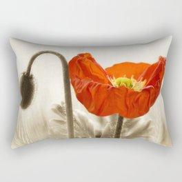 Poppy Red 0171 Rectangular Pillow