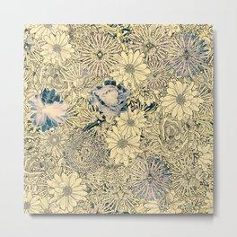 Exotic Flowers Garden Metal Print