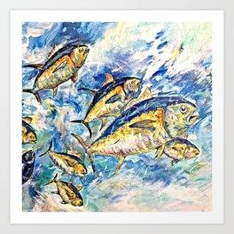 Golden Tuna Art Print