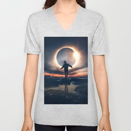 Eclipse Hip-Hop by GEN Z Unisex V-Neck