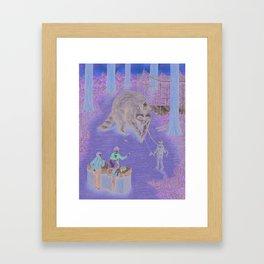 Raccoon Rides! Framed Art Print