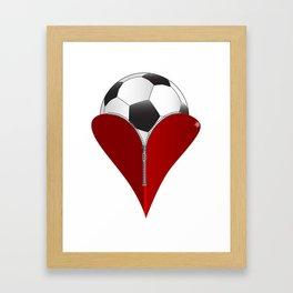 Love Soccer Framed Art Print
