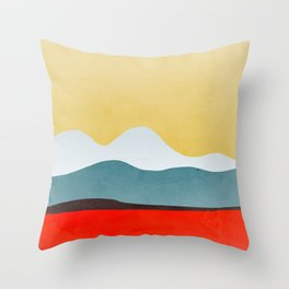 Abstract landscape 2 Throw Pillow