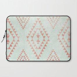 mint & coral tribal pattern Laptop Sleeve