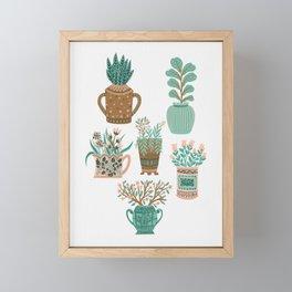 House Plant Gang Framed Mini Art Print