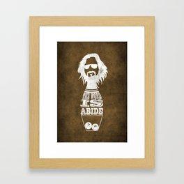 Movie Posters - Lebowski Framed Art Print