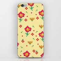 pixel iPhone & iPod Skins featuring Pixel by Kakel