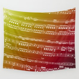 Double Bass Concerto Music on Red Wall Tapestry