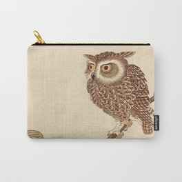 Owl Sitting on Branch Carry-All Pouch