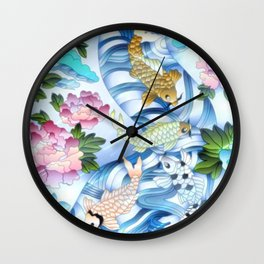 Coy Pond Fantasy Wall Clock