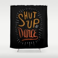 dance Shower Curtains featuring Dance by skitchism