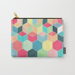 Yummy Summer Colour Honeycomb Pattern Carry-All Pouch