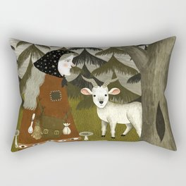 Galiena's goat Rectangular Pillow