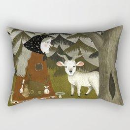 Galiena's goat Rectangular Pillow