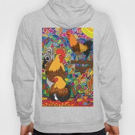 Happy Birds - Chicken and Rooster Hoody