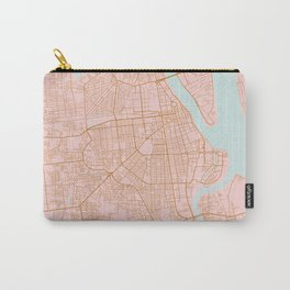 Pink and gold Phnom Penh map, Cambodia Carry-All Pouch