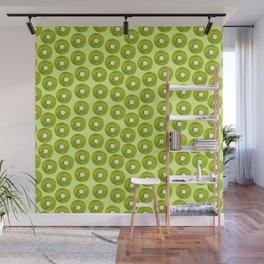 Kiwi Print - Green BG Wall Mural