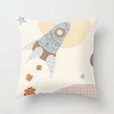 spaceship collage Throw Pillow