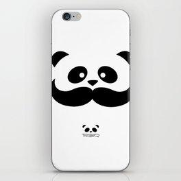Moustache Panda Hug iPhone Skin