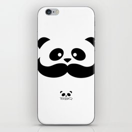 Moustache Panda Hug iPhone Skin