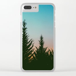 TREES - SUNSET - SUNRISE - SKY - COLOR - FOREST - PHOTOGRAPHY Clear iPhone Case