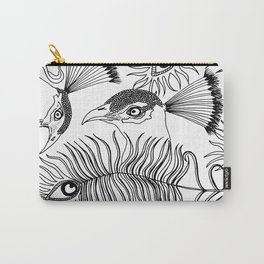 Peacocks and feathers Carry-All Pouch