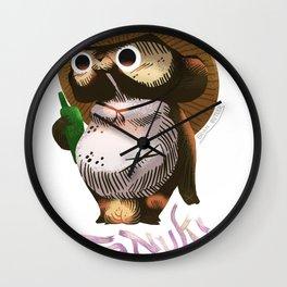 Tanuki Raccoon Bear の置物タヌキの置物写真館 Wall Clock