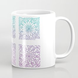Equanimity / Grid / Pink Blue Coffee Mug