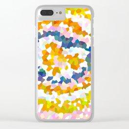 Sun Beam Geometric Clear iPhone Case
