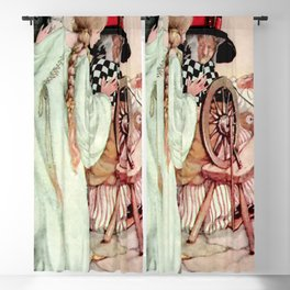 """Briar Rose"" Fairy Tale Art by Anne Anderson Blackout Curtain"