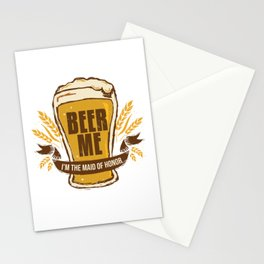 Maid of Honor Gift Bachelorette Party Funny Beer Me Wedding Engagement Present Stationery Cards