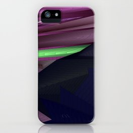 Strange psychedelic landscap with stylised mountains, sea and light blue Sun. iPhone Case