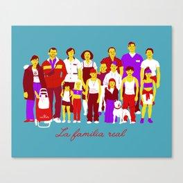 LA FAMILIA REAL Canvas Print
