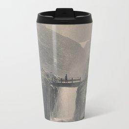 Boy on a Bridge Litho Travel Mug