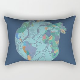 love to travel-world map 2 Rectangular Pillow