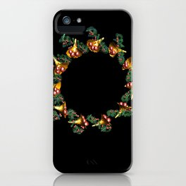Fractal Christmas Wreath iPhone Case