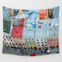 ukraine Wall Tapestries featuring panorama Lviv by Vlad&Lyubov