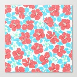 Hibiscus and Plumeria - Tropical Summer Canvas Print