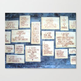 Wall of Wishes Canvas Print