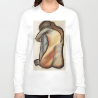 alone Long Sleeve T-shirts featuring Alone by Tiffany Saffle