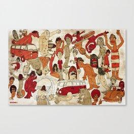 Go Longboard Vintage Canvas Print