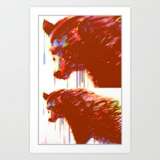 Mr. Grizzle  Art Print