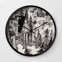 A-Frame Cabin Wall Clock