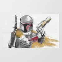 boba Area & Throw Rugs featuring Boba Fett by Berta Merlotte