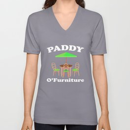 Paddy O'Furniture St Pattys Day Meme Patio Furniture Unisex V-Neck