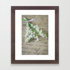 Love letter with lily of the valley Framed Art Print