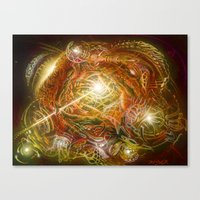 novelty Canvas Prints featuring Coalescence of Novelty by Psybe Visual